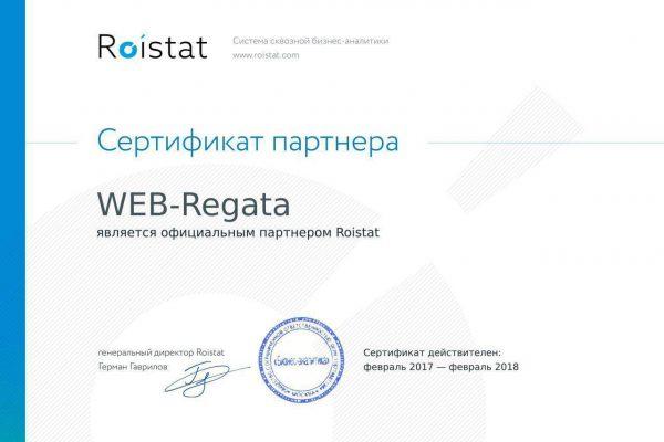 Сертификат Roistat